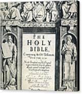 King James I Bible, 1611 Canvas Print by Granger