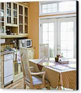 Kitchen Cabinets And Table Canvas Print