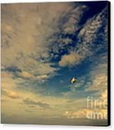 Kite At Folly Beach Near Charleston Sc Canvas Print