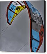 Kite Surfing Canvas Print by Douglas Barnard