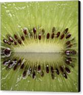 Kiwi Fruit Reflected On Glass Canvas Print by Mark Duffy