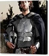 Knight In Shining Armour Canvas Print by Yedidya yos mizrachi