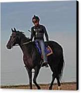 Knight Jockey Canvas Print by PJQandFriends Photography