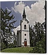 Kostel Panny Marie Lourdske Canvas Print