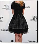 Kristen Bell At Arrivals For Chanel Canvas Print