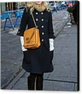Kristen Bell Out And About For Sun Canvas Print