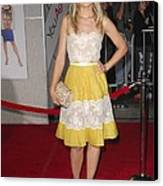 Kristen Bell Wearing A Valentino Dress Canvas Print