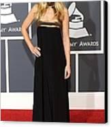 Kristen Bell Wearing An Etro Gown Canvas Print by Everett