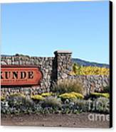 Kunde Family Estate Winery - Sonoma California - 5d19316 Canvas Print by Wingsdomain Art and Photography