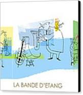 La Bande D'etang Canvas Print