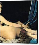 La Grande Odalisque Canvas Print by Pg Reproductions