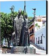 La Rogativa Sculpture Old San Juan Puerto Rico Canvas Print by Shawn O'Brien