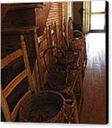 Ladder Backs And Baskets I Canvas Print by Sheri McLeroy