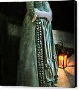 Lady By Lantern Light Canvas Print by Jill Battaglia