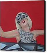 Lady Gaga Poker Face Canvas Print by Kristin Wetzel
