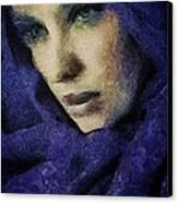 Lady In Blue Canvas Print by Gun Legler