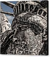 Lady Liberty Canvas Print by Danuta Bennett