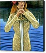 Lady Of The Lake Canvas Print by Sue Halstenberg