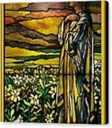 Lady Stained Glass Window Canvas Print by Thomas Woolworth