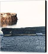 Lake Bottom Boat Canvas Print by Ron Hoggard