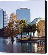 Lake Eola's  Classical Revival Amphitheater Canvas Print by Lynn Palmer