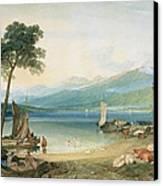 Lake Geneva And Mont Blanc Canvas Print by Joseph Mallord William Turner