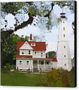 Lake Park Lighthouse Canvas Print