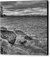 Lake Tahoe Winter Storm Canvas Print by Scott McGuire