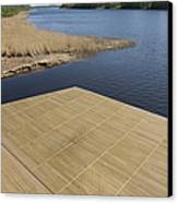 Lakeside Dock Canvas Print