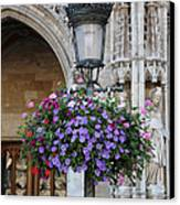 Lamp And Lace At The Grand Place Canvas Print