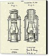Lamp Pomeroy 1894 Patent Art Canvas Print by Prior Art Design