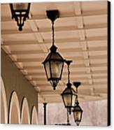 Lamps Canvas Print by Leslie Leda