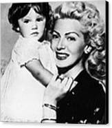 Lana Turner Right, And Daughter Cheryl Canvas Print by Everett