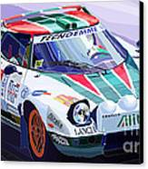 Lancia Stratos Alitalia Rally Catalonya Costa Brava 2008 Canvas Print by Yuriy  Shevchuk