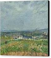 Landscape In Pontoise Canvas Print by Camille Pissarro
