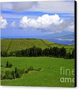 Landscape With Crater Canvas Print