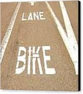 Lane Bike Canvas Print by Jenny Senra Pampin