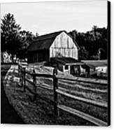 Langus Farms Black And White Canvas Print