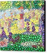 Large Bubbly Sunday On La Grande Jatte Canvas Print by Mark Einhorn