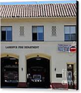 Larkspur Fire Department - Larkspur California - 5d18503 Canvas Print by Wingsdomain Art and Photography