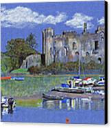 Laugharne Castle  Canvas Print