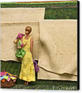 Laundry - Crop Of Original - To See Complete Artwork Click View All Canvas Print by Anne Klar