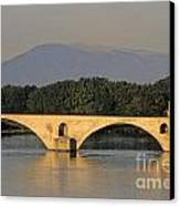 Le Pont Benezet.avignon. Provence. Canvas Print by Bernard Jaubert