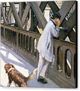 Le Pont De L'europe Canvas Print by Gustave Caillebotte