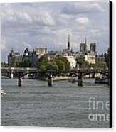 Le Pont Des Arts. Paris. France Canvas Print by Bernard Jaubert