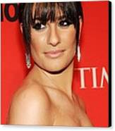 Lea Michele At Arrivals For Time 100 Canvas Print