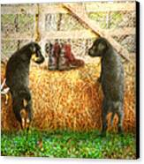 Lead Me Not Into Temptation  Canvas Print by Trudi Simmonds