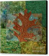 Leaf Life 01 - Green 01b2 Canvas Print by Variance Collections