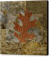 Leaf Life 01 -brown 01b2 Canvas Print by Variance Collections