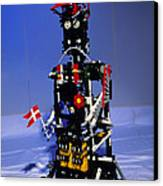 Lego Humanoid Robot Known As Elektra Canvas Print by Volker Steger